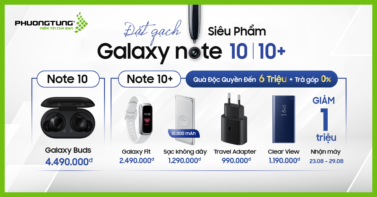 Đặt gạch Galaxy Note 10, Note 10+