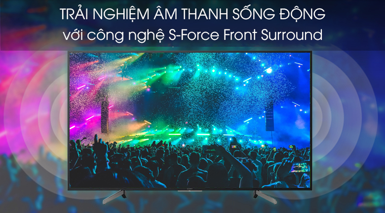 Smart Tivi Sony 4K 55 inch KD-55X7000G - S-Force Front Surround