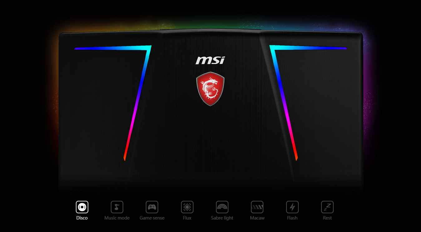 MSI GE63 8RE-266VN Raider RGB Edition mystic light