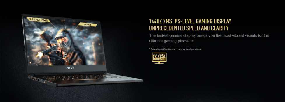 MSI GS65 8RE Stealth Thin màn hình 144hz